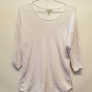 Dana Buchman White Sweater 1X